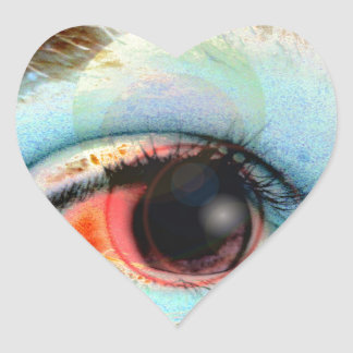 máquina de hilar eye2 pegatina en forma de corazón