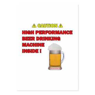 Máquina de la cerveza plantillas de tarjeta de negocio