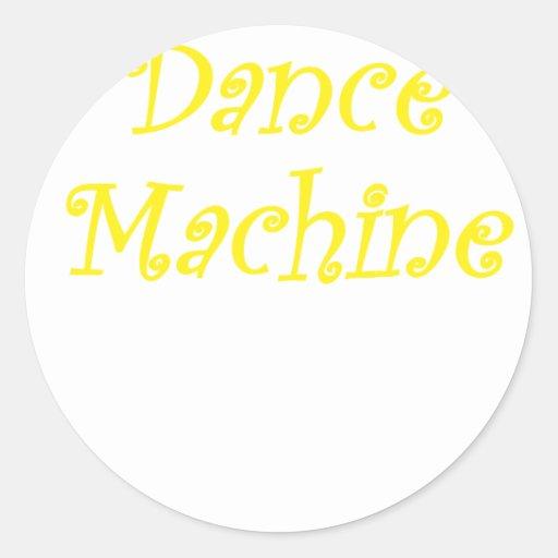 Máquina de la danza etiqueta redonda