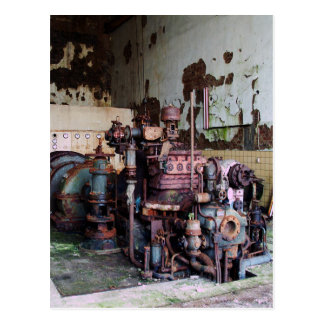 Máquina de la descomposición postales