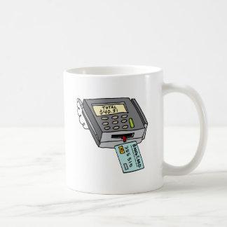 Máquina de la tarjeta de crédito del taza clásica