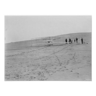 Máquina de los hermanos 1903 de Wright en Póster