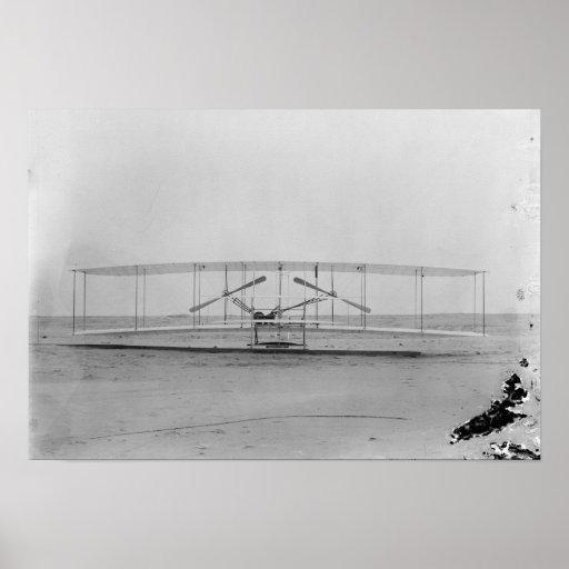 Máquina de los hermanos 1903 de Wright (vista dela Impresiones