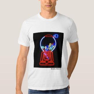 Máquina de neón del chicle camisas