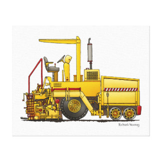 Máquina de pavimentación del asfalto impresión en lienzo