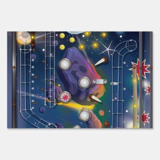 Máquina de pinball estupenda del espacio carteles