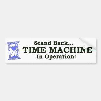 Máquina de tiempo pegatina para auto