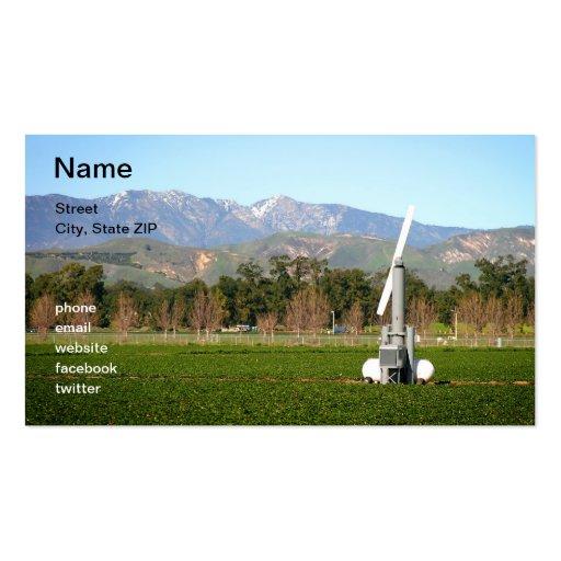Máquina de viento agrícola plantilla de tarjeta personal