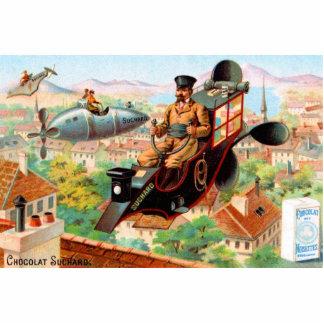 Máquina de vuelo de Steampunk del chocolate Fotoescultura Vertical