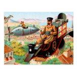 Máquina de vuelo de Steampunk del chocolate Postales