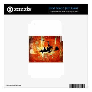 Máquina de vuelo iPod touch 4G calcomanía