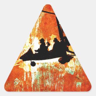 Máquina de vuelo pegatinas de trianguladas