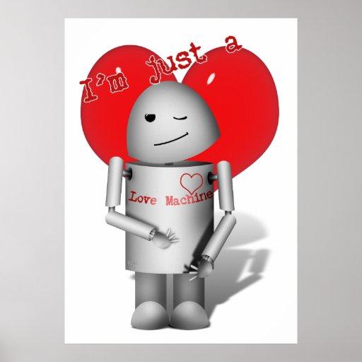 Máquina del amor Robo-x9 (con el corazón) Impresiones