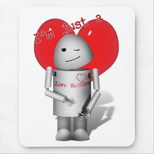 Máquina del amor Robo-x9 (con el corazón) Alfombrillas De Raton