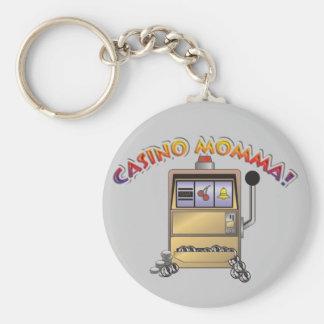 máquina del casino llavero redondo tipo pin