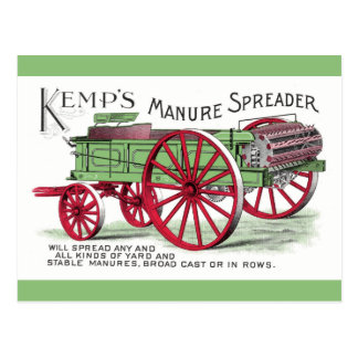 Máquina del esparcidor de abono postales