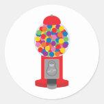 máquina del gumball etiqueta redonda