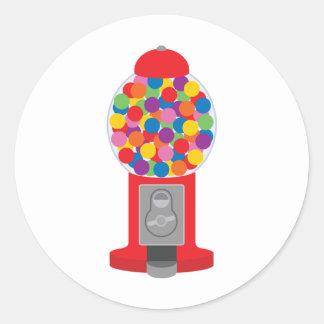 máquina del gumball pegatina redonda