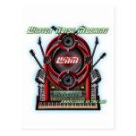 Máquina del ruido del invierno tarjeta postal