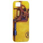 Máquina del tatuaje del vintage (amarillo) iPhone 5 Case-Mate carcasa