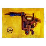 Máquina del tatuaje del vintage (amarillo) tarjeta