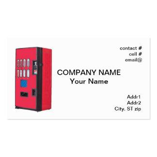 máquina expendedora roja tarjetas de visita