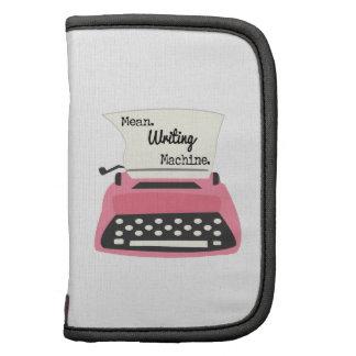 Máquina mala de la escritura organizador