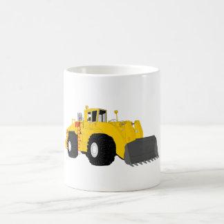 Máquina negra y amarilla de la construcción de la tazas