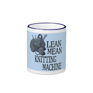 Máquina para hacer punto taza de dos colores