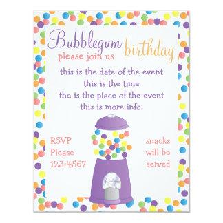 """Máquina púrpura de Gumball de la diversión Invitación 4.25"""" X 5.5"""""""