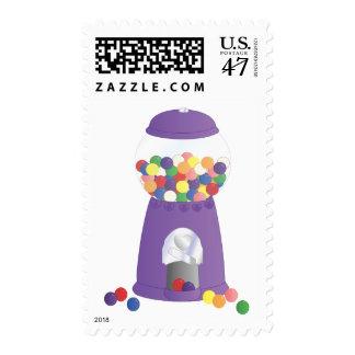 Máquina púrpura de Gumball Timbre Postal