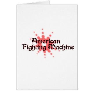 Máquina que lucha americana felicitacion