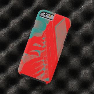 Máquina roja y verde de Steno del reportero de Funda Para iPhone 6 Tough