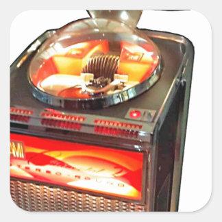 Máquina tocadiscos continental 2 del AMI Pegatina Cuadrada