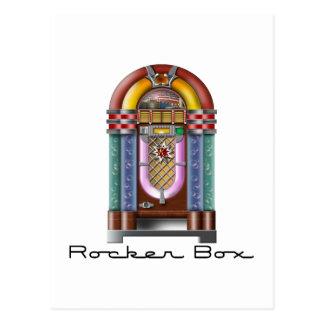 Máquina tocadiscos de la caja del eje de balancín postales