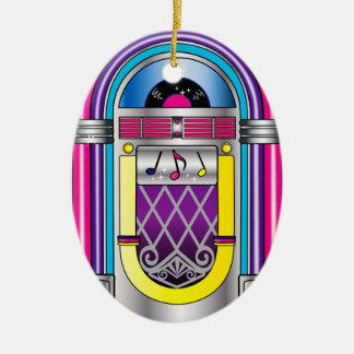 Máquina tocadiscos ornaments para arbol de navidad