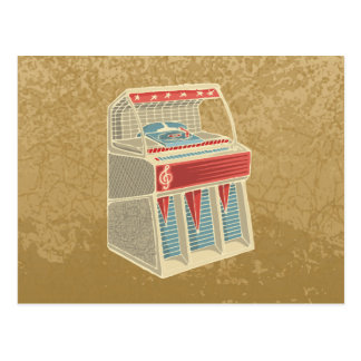 Máquina tocadiscos del Grunge Postales
