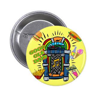 Máquina tocadiscos del nacido en el baby boom pins