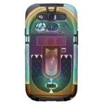 Máquina tocadiscos del rollo de la roca N del vint Samsung Galaxy S3 Protectores