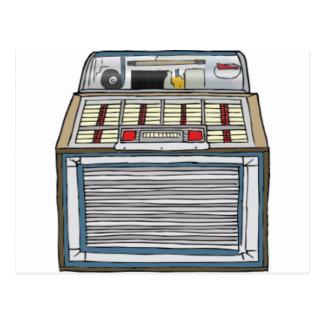 Máquina tocadiscos del vintage postales