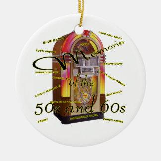 Máquina tocadiscos fabulosa de los años 50 ornamentos de navidad