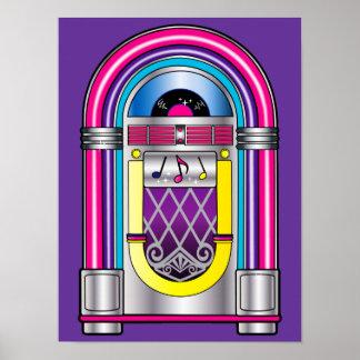 Máquina tocadiscos póster