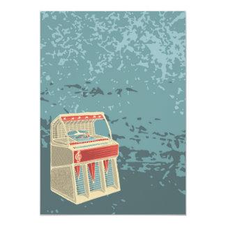 Máquina tocadiscos retra del Grunge Invitación 12,7 X 17,8 Cm
