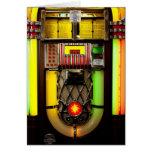 Máquina tocadiscos tarjeta de felicitación