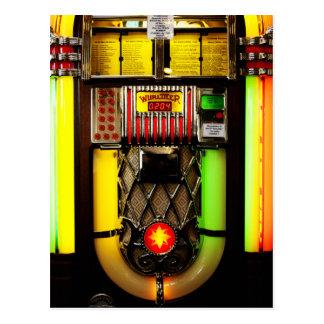 Máquina tocadiscos tarjetas postales