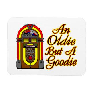 Máquina tocadiscos un Oldie pero un Goodie Rectangle Magnet