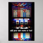 Máquina tragaperras 7 afortunados del casino perso póster