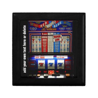Máquina tragaperras afortunada del jugador cajas de regalo