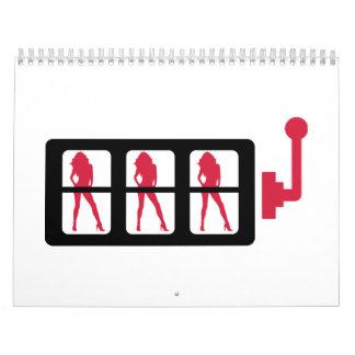 Máquina tragaperras calendarios de pared