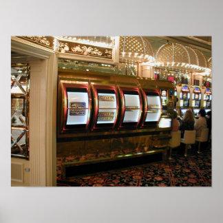 Máquina tragaperras del gigante del casino de Las  Poster